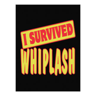 I SURVIVED WHIPLASH PERSONALIZED INVITATION