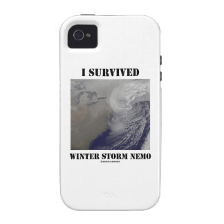 I Survived Winter Storm Nemo (NASA Outer Space) iPhone 4/4S Covers