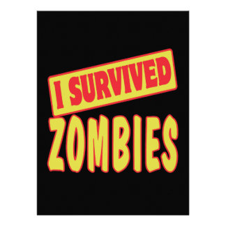 I SURVIVED ZOMBIES PERSONALIZED ANNOUNCEMENT