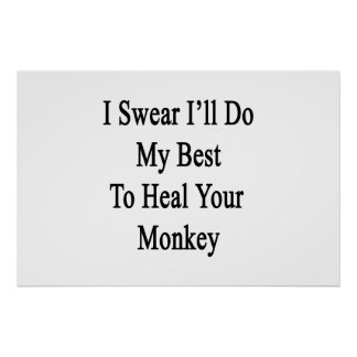 I Swear I'll Do My Best To Heal Your Monkey Poster