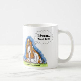 I Swear the cat did it Coffee Mug