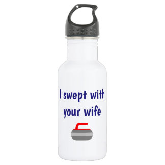 I swept with your wife - Sport of Curling 532 Ml Water Bottle