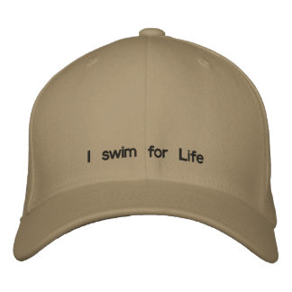 I swim for Life Embroidered Hat