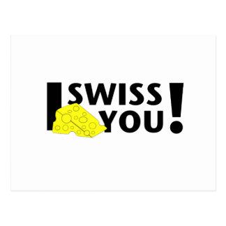 I Swiss You Postcard