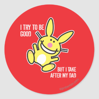 I Take After My Dad Classic Round Sticker