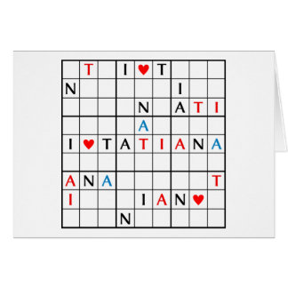 I♥TATIANA CARD