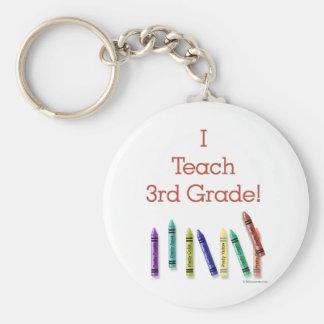 I Teach 3rd Grade Keychain