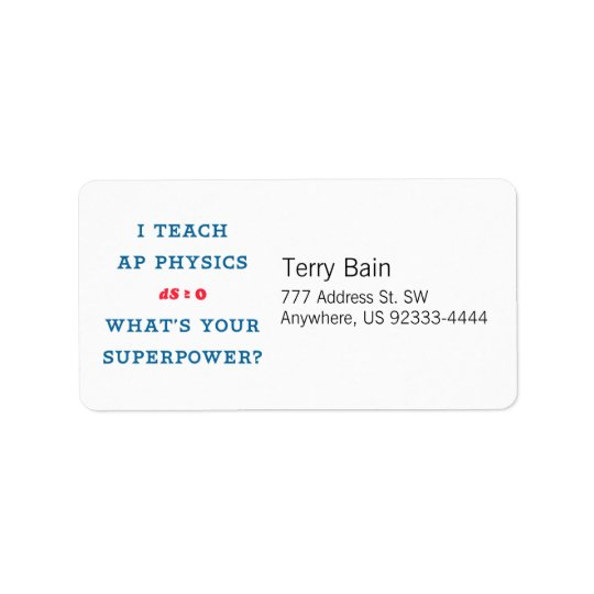 I Teach AP Physics What's Your Superpower