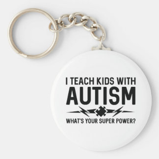 I Teach Kids With Autism Keychain