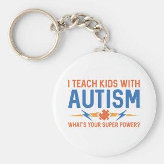 I Teach Kids With Autism Keychain