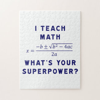 I Teach Math / What's Your Superpower? Jigsaw Puzzle