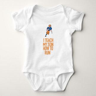 I Teach My Son How To Run Great Gift Baby Bodysuit