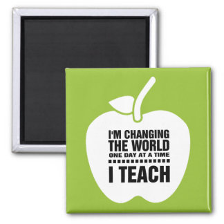 I Teach. Teaching Quote | Apple  Gift Magnets