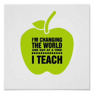 I Teach. Teaching Quote | Typography Art Print