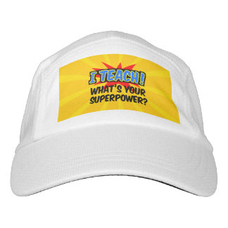 I Teach What's Your Superpower Superhero Teacher Hat
