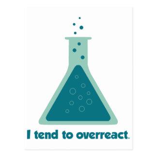 I Tend To Overreact Chemistry Science Beaker Postcards