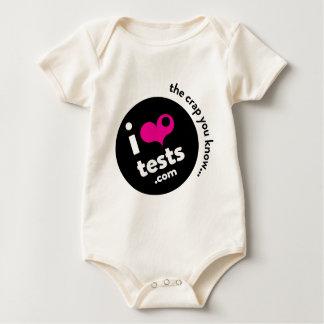 i ❤︎ tests baby bodysuit