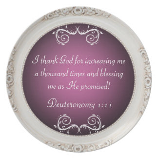 I Thank God Scripture Blessing Plate