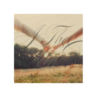 I Thee Wed IV Wedding Photo Wood Canvas Wall Art