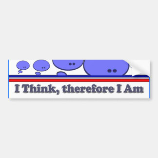 I Think Bumper Sticker