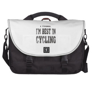 I Think I m Best In Cycling Laptop Computer Bag