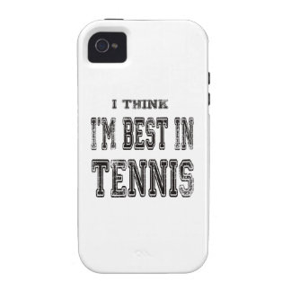 I Think I m Best In Tennis Vibe iPhone 4 Covers