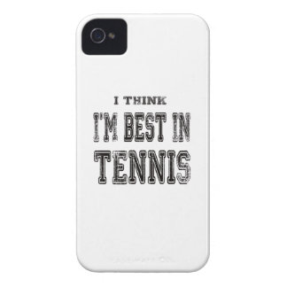 I Think I m Best In Tennis iPhone 4 Cover