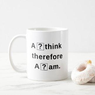 I think therefor I am? - Question Mark Box Glitch Coffee Mug