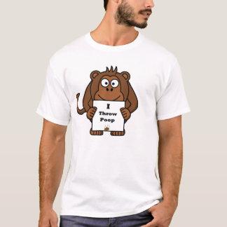 I Throw Poop Monkey T-Shirt