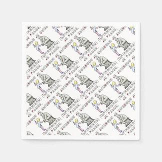 I thus bandage I am (Nurse) - Word games Paper Napkin