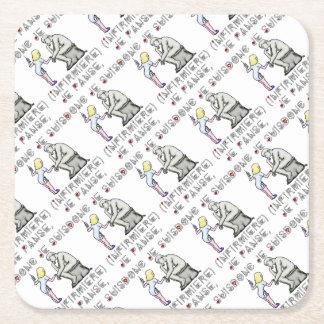 I thus bandage I am (Nurse) - Word games Square Paper Coaster