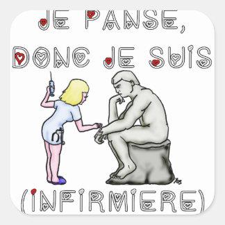 I thus bandage I am (Nurse) - Word games Square Sticker