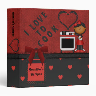 I ♥ To Cook Red Hearts Recipe Binder