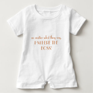 """""""I to the boss"""" players Baby Romper"""