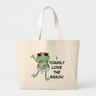 I Toadily love the beach tote bag