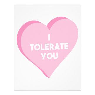 I Tolerate You Letterhead