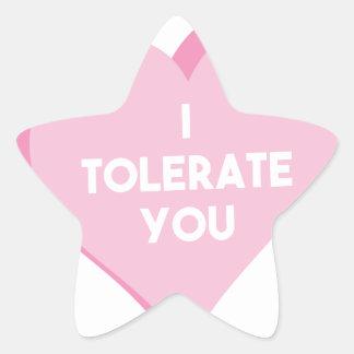I Tolerate You Star Sticker