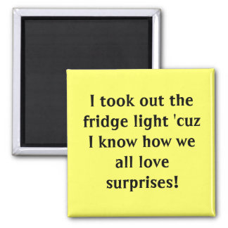 I took out the fridge light 'cuz I know how we ... Magnet