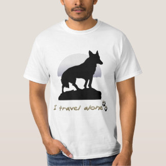 I Travel Alone Wolf Tee Shirt