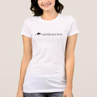 """""""I [tree] genealogy"""" T-shirt for women or men"""
