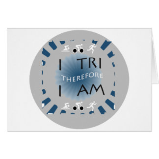 I Tri Therefore I am Triathlon Card