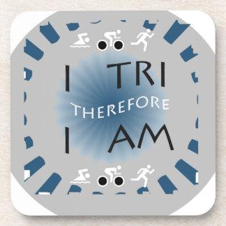 I Tri Therefore I am Triathlon Coaster