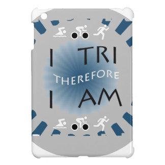 I Tri Therefore I am Triathlon iPad Mini Cases