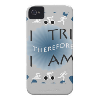 I Tri Therefore I am Triathlon iPhone 4 Covers