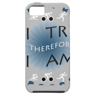 I Tri Therefore I am Triathlon iPhone 5 Case