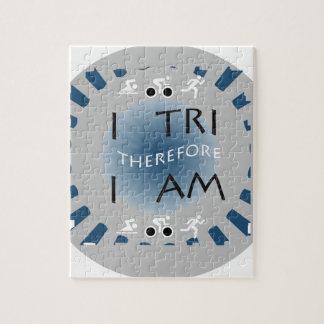 I Tri Therefore I am Triathlon Jigsaw Puzzle