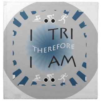 I Tri Therefore I am Triathlon Napkin