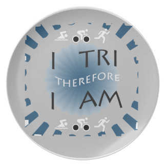 I Tri Therefore I am Triathlon Plate