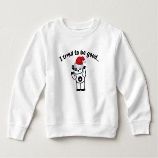 I Tried to Be Good Santa Panda Toddler T-Shirt