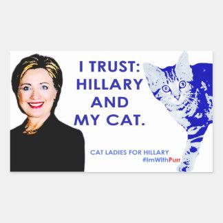 I Trust Hillary and My Cat Sticker. #ImWithPurr Sticker